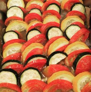 【緑&黄ズッキーニとトマト】